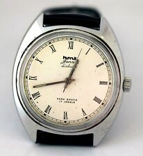 Vintage HMT Janata Deluxe Silver Dial 17J Mechanical Hand winding Men Wristwatch