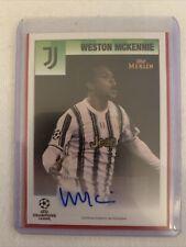 Topps Merlin 95 Weston Mckennie Juventus Autograph