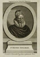 Sir Henry Spelman, Ende 18. Jhd., Kupferstich