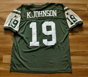 KEYSHAWN JOHNSON NEW YORK JETS NY STARTER JERSEY NFL GREEN MEN SEWN 52 XL