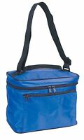 """Mini Insulated Cooler Bag Box Thermal Lunch Picnic Shoulder Strap 9.5"""" Inches"""