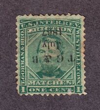 US RO98a 1c T. Gorman & Bro. Match Revenue Used w/ Handstamp Cancel SCV $35