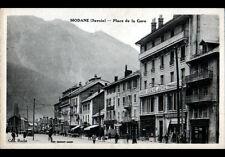 """MODANE (73) BANQUE """"Désiré JORIO"""" & HOTEL DU COMMERCE , Place de la GARE animée"""