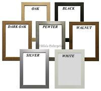 Picture Frames Photo Frames Poster Frames Black Oak Walnut White Pewter Silver