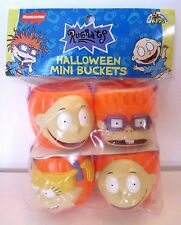 NEW Rugrats, Nickelodeon Halloween Pumpkin Character Mini Buckets, 1998