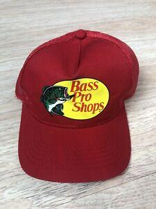 Official Bass Pro Shops Fishing Trucker Mesh Baseball Ball Cap Hat Snap Back
