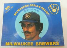 RARE ROLLIE FINGERS MILWAUKEE BREWERS 1982 AUDIO POSTCARD EXCELLENT CONDITION