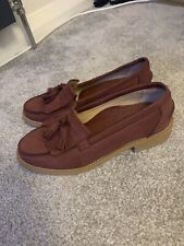 Russell Bromley Size 36 3 Red Loafers Burgundy