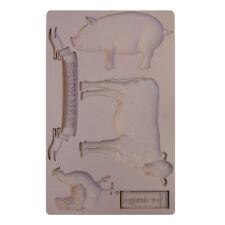 FARM ANIMALS Re-Design Prima Decor Moulds Mold Food Safe 5X8 Resin #652029