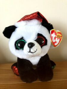 TY BEANIE BOO PANDY CLAUS THE PANDA BEAR 15CM BRAND NEW WITH TAGS CHRISTMAS BOOS