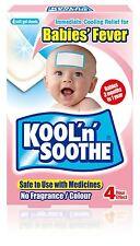 Kool N calmar Para Bebés Fiebre - 4 Soft Gel Hojas