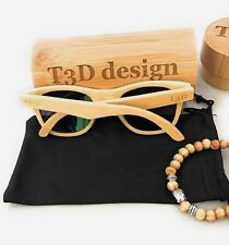 SunglassesWooden Sunglasses by T3D (Surf Collection) -Bamboo -Vintage –Polarized