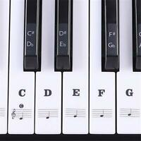 Piano Stickers Music Keyboard Key Note Labels Sticker 54 61 88 Keys Removable