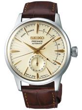 Seiko Men's PRESAGE Champagne Dial Leather Strap Watch SSA387