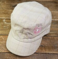 Ryan Frizzell Horseshoeing Military Style Plaid Hat Lined Embroidered Tan