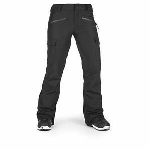Volcom Women's Mira Stretch Slim Fit Snowpant, Black, Small