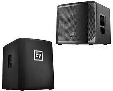 2 X Electro-Voice EV Elx200-12sp Powered Bass Speaker 2400w Sub Control App