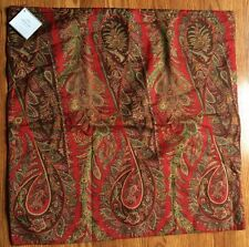 """POTTERY BARN~CAROLINE PAISLEY~PILLOW COVER~24"""" SQUARE NEW with TAGS"""