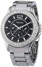 Fossil Womens Riley Ceramic Watch – Chrome #CE1067