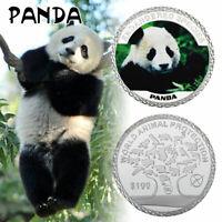 Pièce commémorative en argent du panda de Chine Protection mondiale des animaux