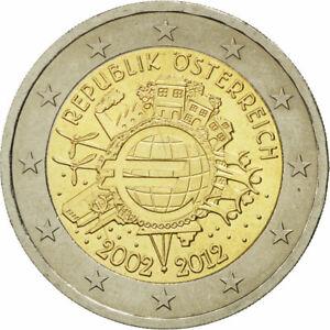 [#465965] Autriche, 2 Euro, 10 ans de l'Euro, 2012, SPL, Bi-Metallic