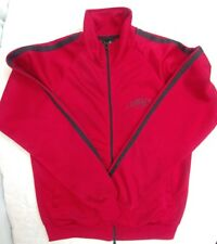 Guinness Beer Full Zip Track Jacket with Striped Sleeves Red - Sz Medium