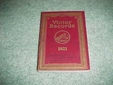 1921 Victor Records Catalog Book Talking Machine Company Bios Sketches