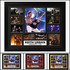 Keith Urban Signed Framed Memorabilia Limited Ed. 2017 - Multiple Variations