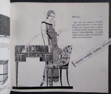 3 catalogues AU BUCHERON 1923 Ameublement Art Déco RENE VINCENT Mobilier Mode