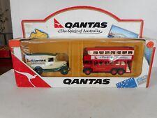 Days Gone Set Qantas the GIFTSET  Australia Double Decker Bus Cargo Car LLedo