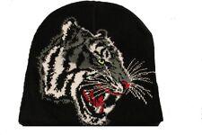 Bonnet à tête de tigre  mixte ( 100% acrylique )  ( Motif de face uniquement )