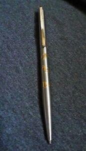 Rare Vintage elysee Ski Sports 24 Karat Gold Inlay Ballpoint Pen