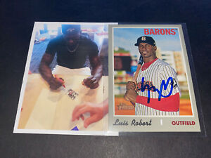 Luis Robert White Sox Auto Signed 2019 Topps Heritage Card