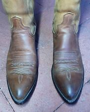 Men's Dan Post Brown Cowhide Cowboy Boots 8.5 D or 8  Excellent Used Condition