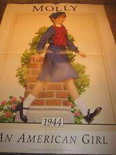 American Girl Doll MOLLY Pleasant Company- Poster Print Rare Unused 1990