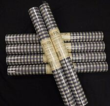 Gingham Check Navy Cream Wallpaper York #PV5216 (Lot of 6 Double Rolls)