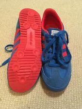 Tamaño 3 Adidas Dragon Zapatillas Azul Y Rojo-Excelente Estado