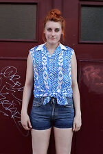 Mustang Damen Jeans Hose kurz hot pants blau blue 90er True VINTAGE 90´s women