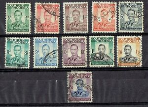 Southern Rhodesia KGVI 1937 fine used set of 11 stamps