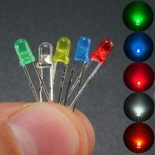 200pcs 3mm Red Yellow White Green Blue Water Clear LED Emitting Diodes Light Kit