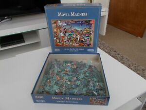 Movie Madness Jigsaw Puzzle Adrian Chesterman ET STAR WARS Gibsons 1000 Piece