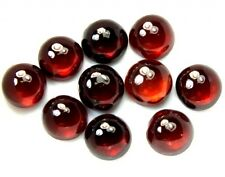 5 PIECES OF 3mm ROUND CABOCHON-CUT NATURAL INDIAN ALMANDINE GARNET GEMSTONES