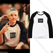 Kpop BTS SUGA Raglan Sleeve Unisex Bangtan Boys Long Sleeve Tops Clothes Cotton
