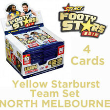 2018 AFL SELECT FOOTY STARS YELLOW STARBURST SET 4 CARDS - NORTH MELBOURNE