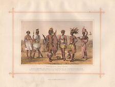 1882 Grande impression antique-Ethiopian Race