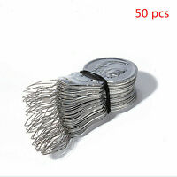 50pcs Bow Wire Needle Pin Threaders Insertion Tool Sewing Craft Stitch Helper
