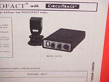 1977 HANDIC CB RADIO SERVICE SHOP MANUAL MODEL 605DL