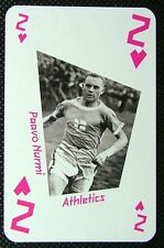 1 x playing card London 2012 Olympic Legends Paavo Nurmi Athletics 2H