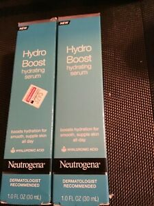2 Neutrogena Hydro Boost Hydrating Serum- 1 Oz