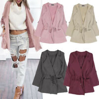 New Women Fashion Hooded Long Coat Jacket Trench Windbreaker Parka Outwear S-5XL